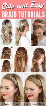 cute and easy braid tutorials