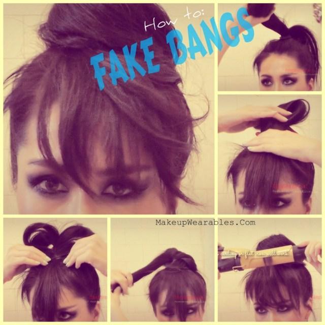 How To Fake Bangs : Cute Easy Bun Hairstyles