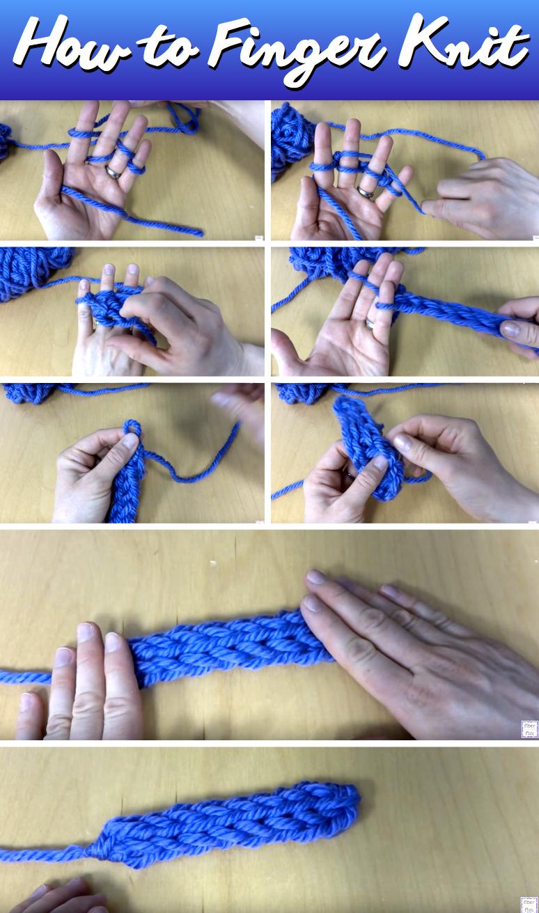 Finger Knit Yarn Projects