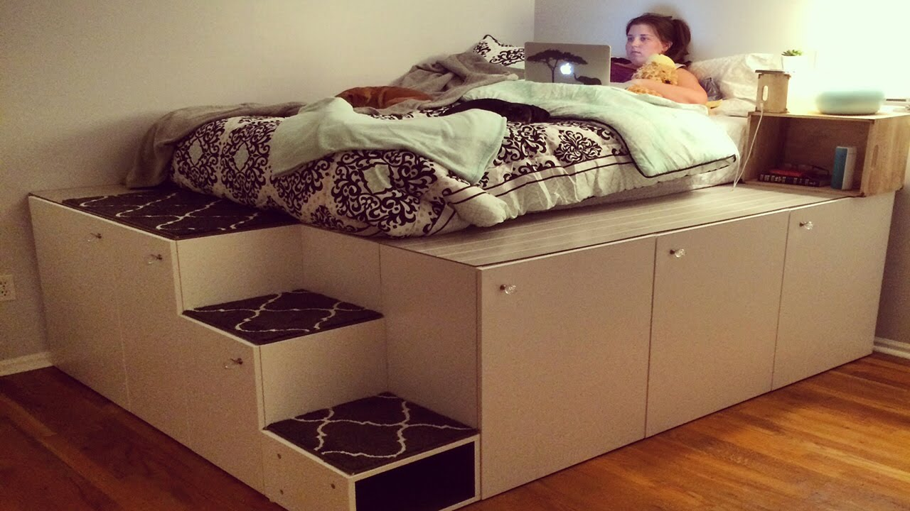 ikea platform storage bed