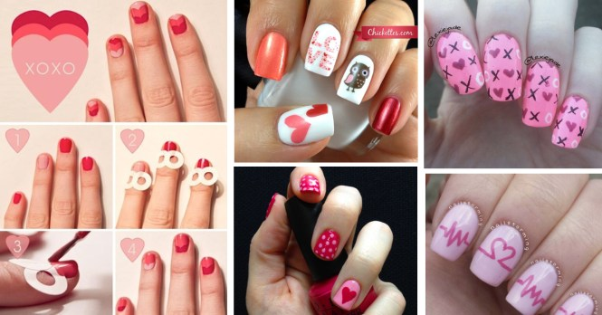 Latest Collection Of Nail Art Desings For Valentines Day 2016 In Bharatmoms