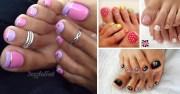 cute toenail polish design