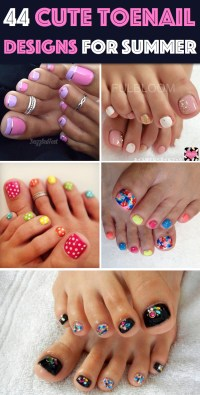 44 Easy And Cute Toenail Designs for Summer  Cute DIY