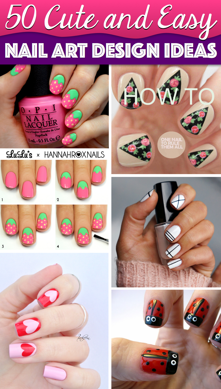 50 Cute Cool Simple And Easy Nail Art Design Ideas To Make You Skip