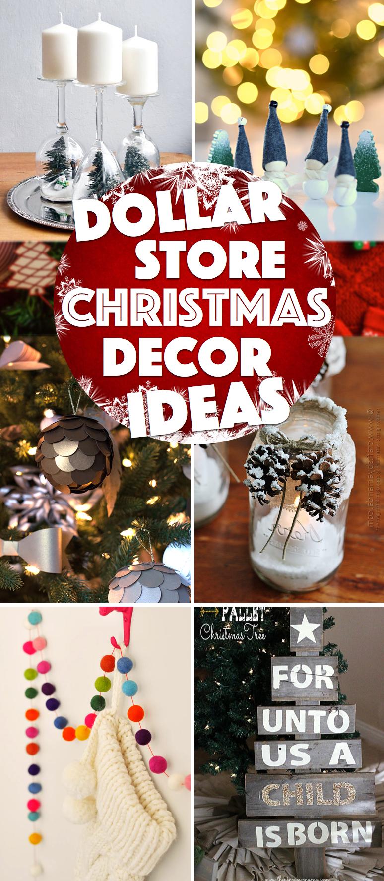 39 Oh So Gorgeous Dollar Store Diy Christmas Decor Ideas To