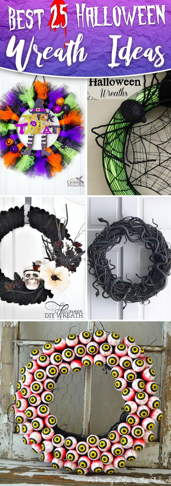 Top 25 Halloween Wreath Ideas for 2017