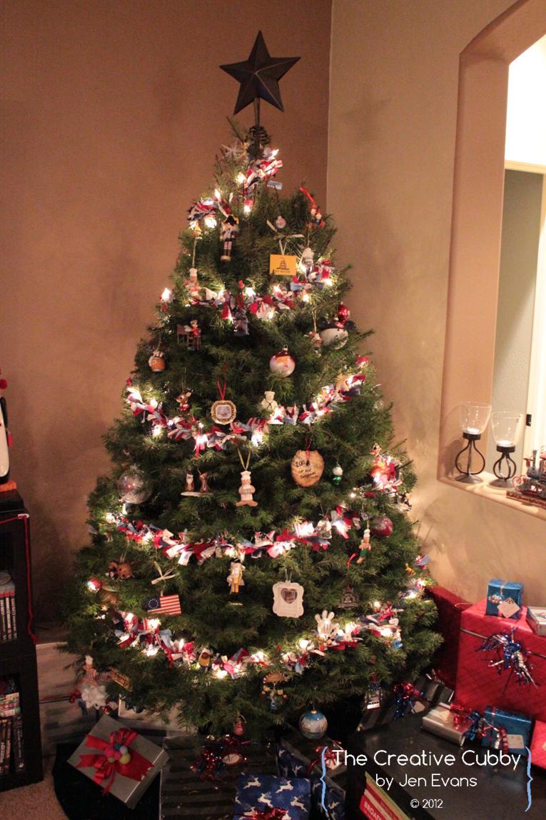 Tied Ribbon Christmas Tree Garland Cute Diy Projects