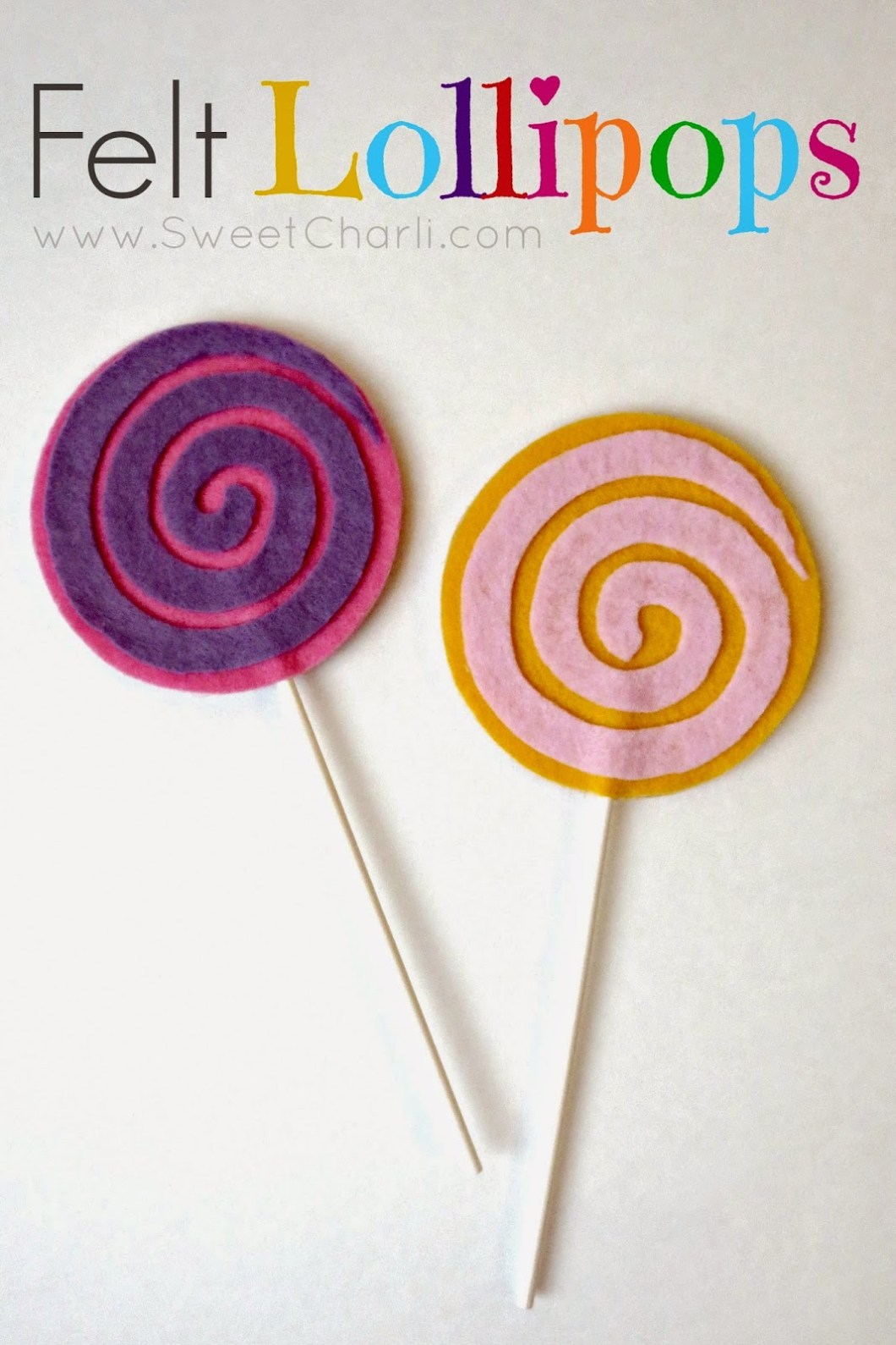 DIY Felt Lollipops