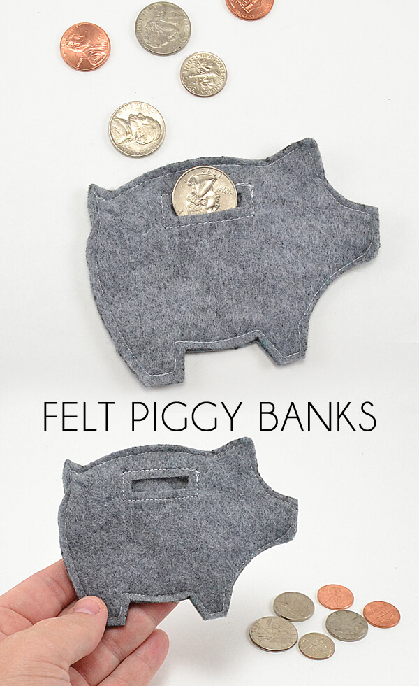 Felt Piggy Banks Tutorial