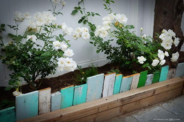 Scrap Wood Garden Edging