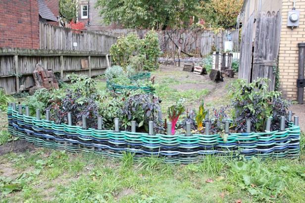 Woven Hose Garden Edge