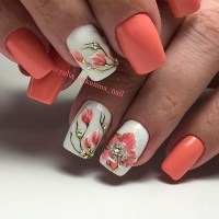 25 Delicate Flower Nail Designs Adding Lovely Blooms To ...