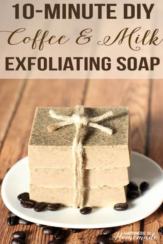 10-Minute Coffee and Milk Exfoliating Soap