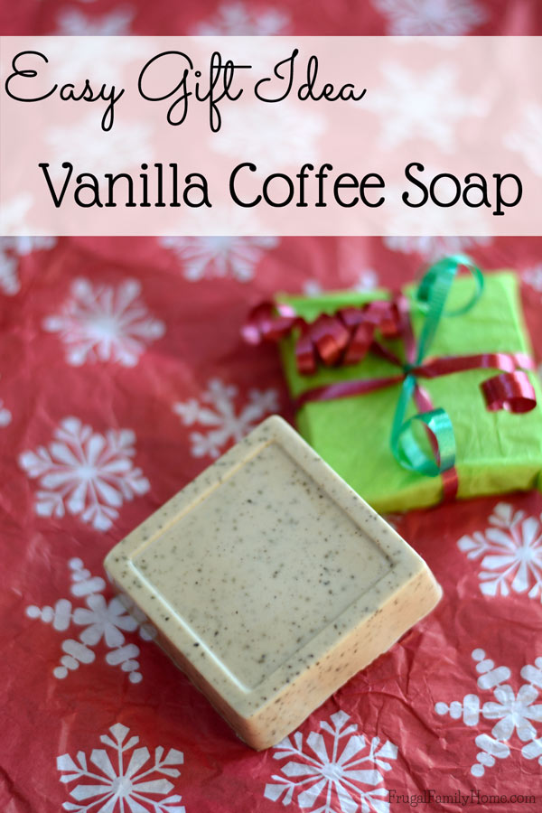 DIY Vanilla Coffee Soap