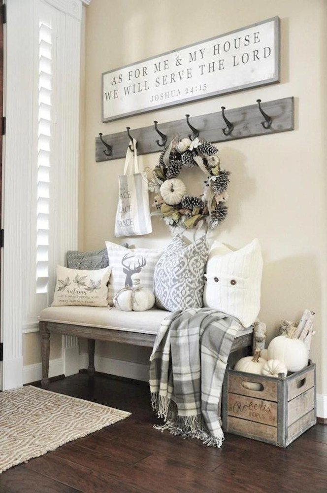 Mudroom Bench with Loads of Pillows
