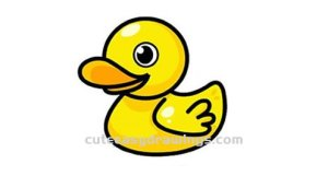 yellow draw duck duckling step easy mouth drawings feathers toy much flat round head