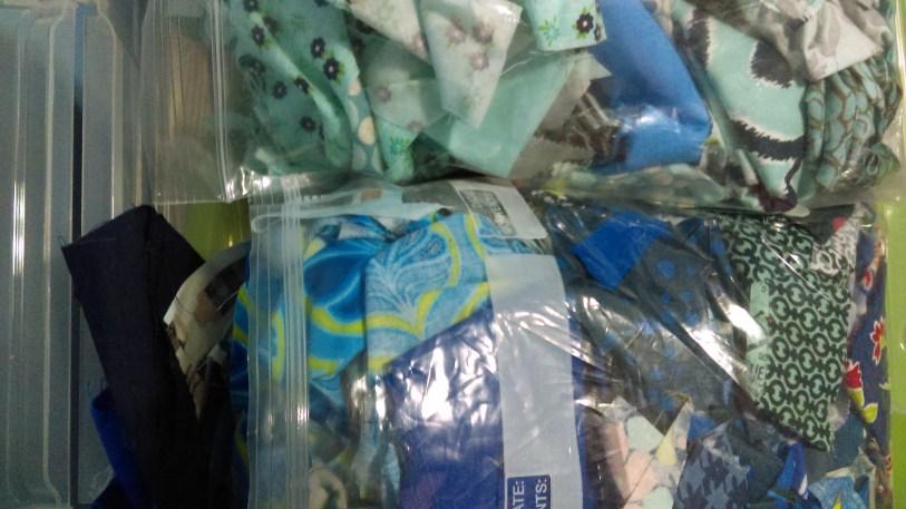 Two big blue scrap bags!