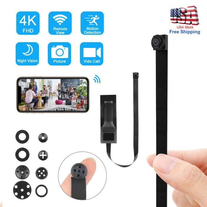 4K Wireless Spy Mini WIFI IP DIY Hidden Screw Pinhole HD Nanny Camera Video DVR