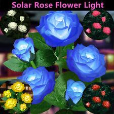 5Head Solar Power Rose Flower Garden Stake Outdoor Landscape Lamp Yard LED Light