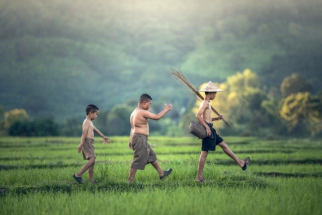 childhood, activity, asia