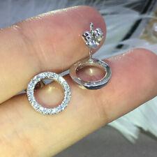 Cute Cubic Zircon 925 Silver Stud Earrings for Women Wedding Jewelry Gift