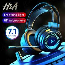Gamer Headphones Gaming Headset Surround Stereo Mic LED Earphone For PC Laptop
