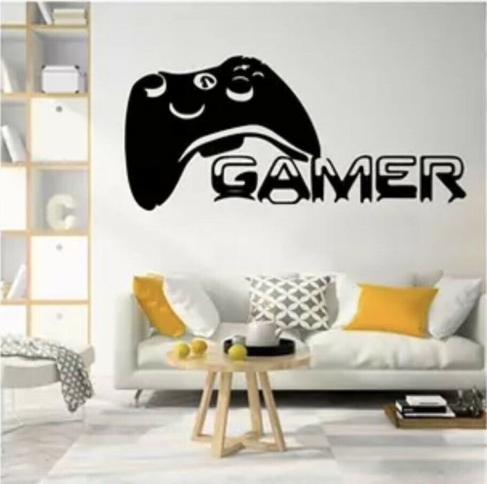 Gamer Video Game Theme Wall Decal Large Wall Sticker Gift Free Shipping Sale