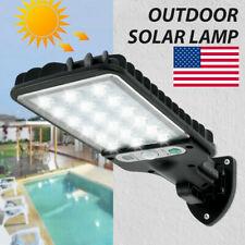 USA 600W LED Solar Wall Light Motion Sensor Outdoor Garden Security Street Lamp