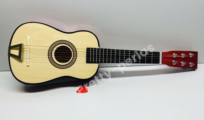 "23"" Mini Acoustic Guitar Wood Beginner Pratical Small Guitarra for Kids USA"