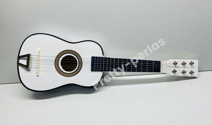 "23"" Mini Acoustic Guitar Wood Beginner White Small Guitarra for Kids USA Sell"