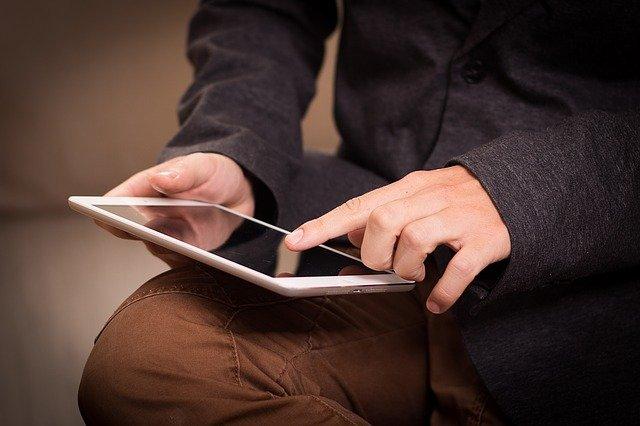 tablet, ipad, read