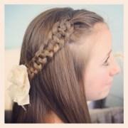 tiebacks cute girls hairstyles