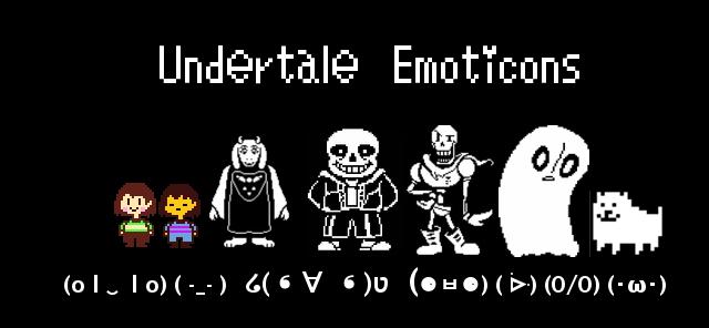 undertale emoticons emoji ascii
