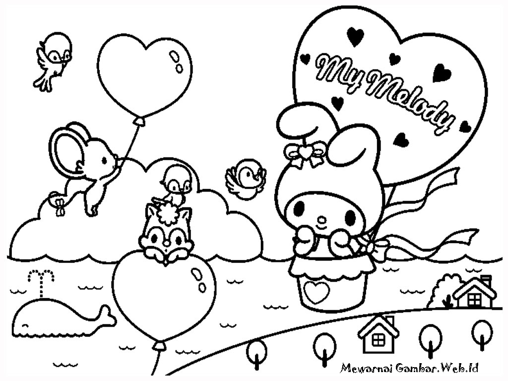 Hello Kitty Worksheets Coloring
