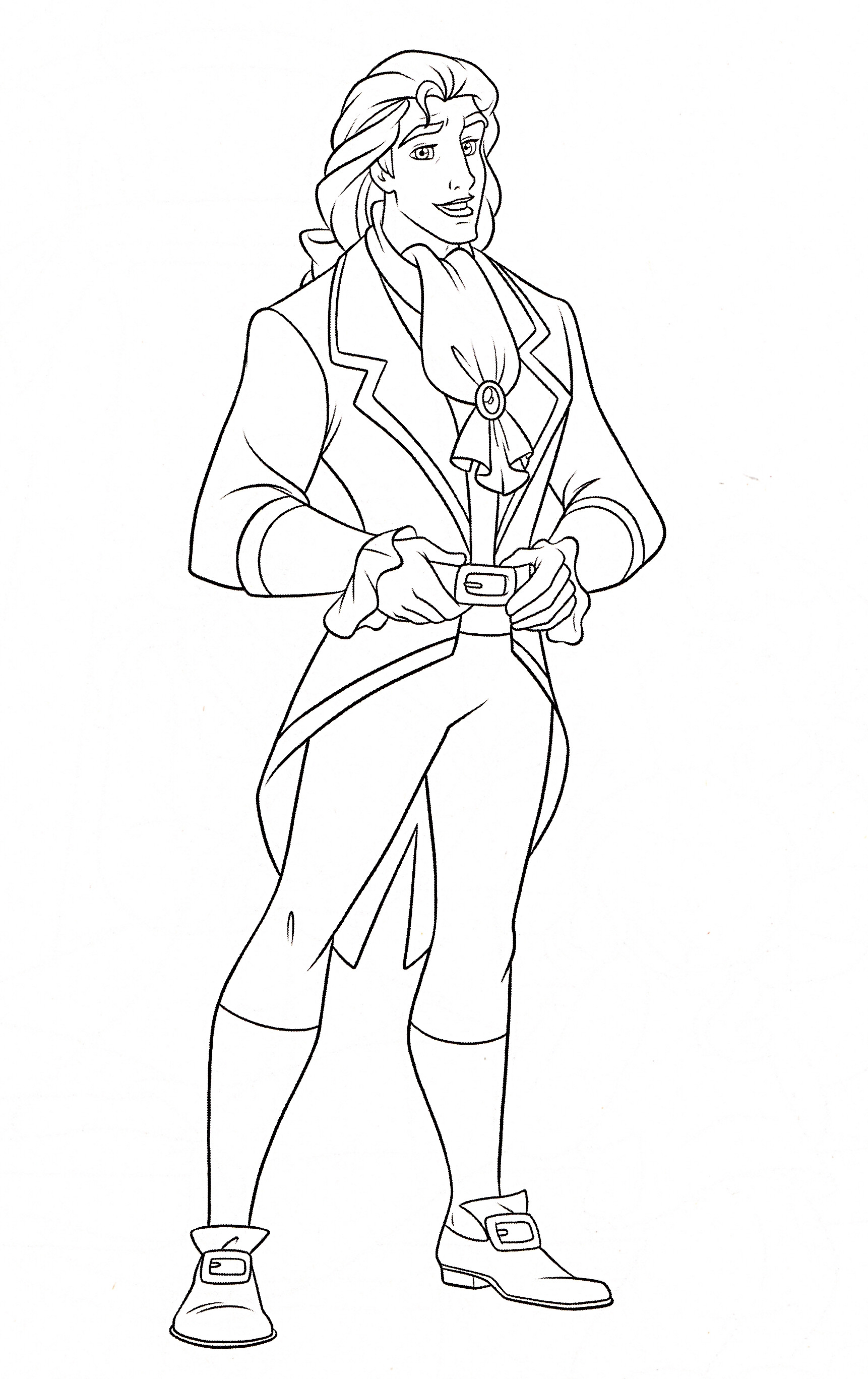 Walt Disney Coloring Pages Prince Adam Walt Disney