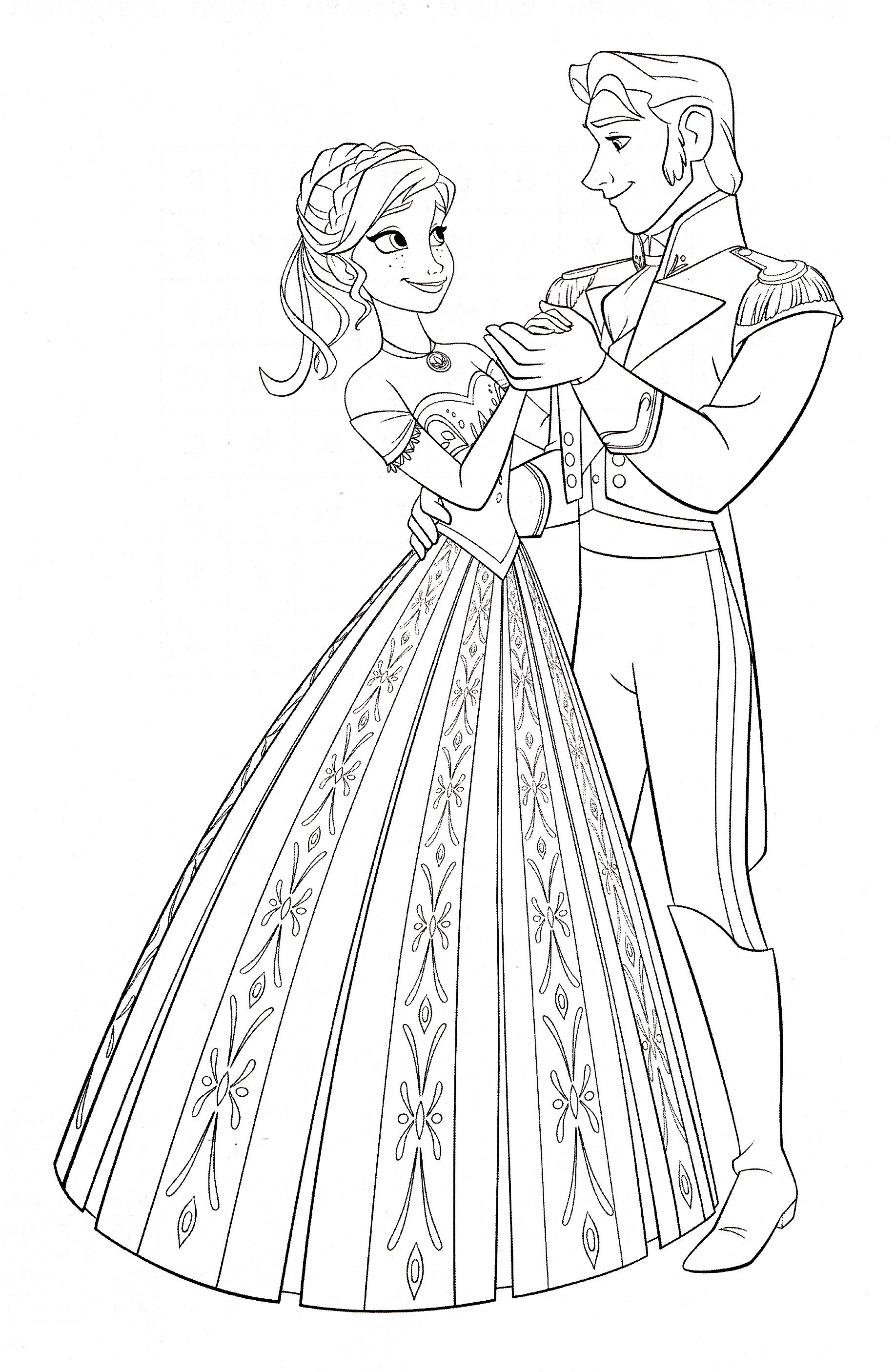 Walt-Disney-Coloring-Pages-Princess-Anna-Prince-Hans-walt