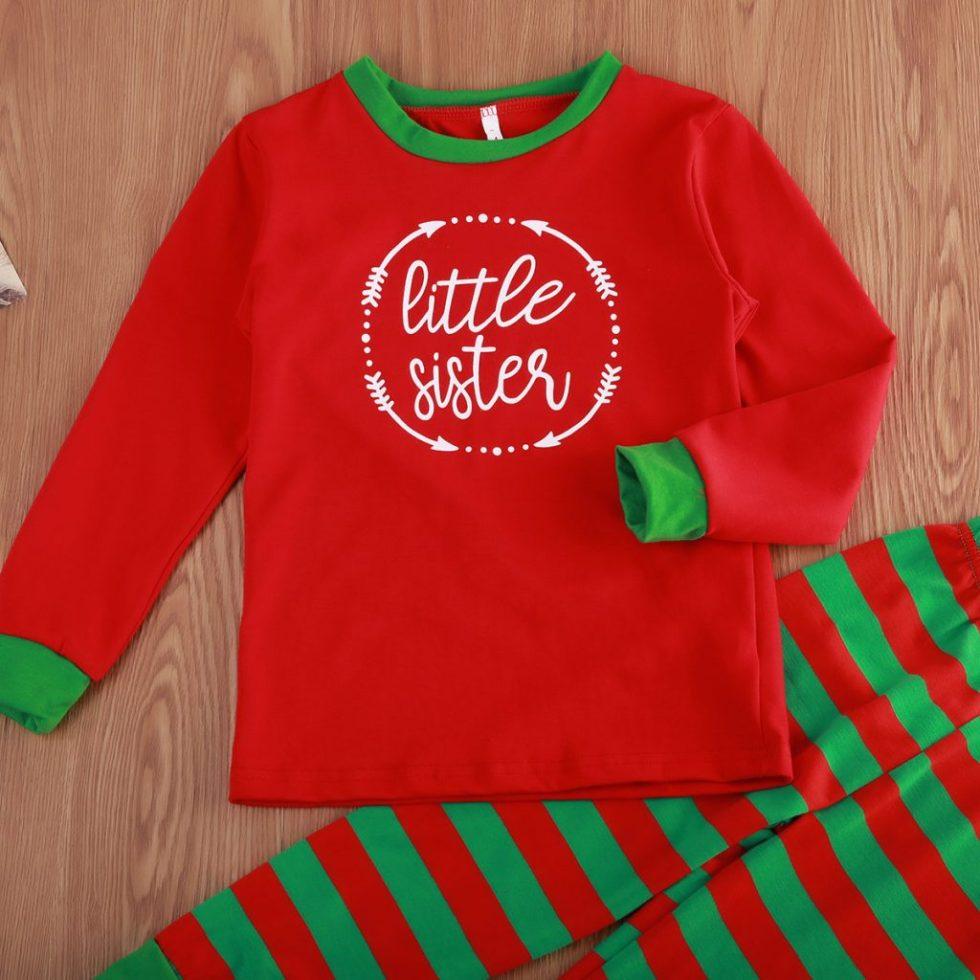 stipped christmas pyjamas