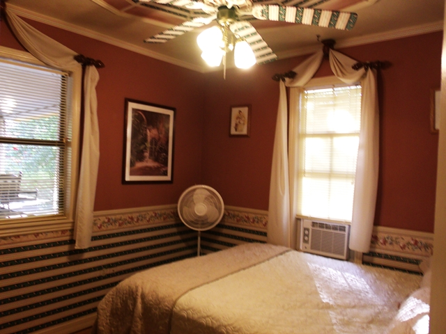The Pedestal Fan adds that little extra comfort in the Beaver Lake Vacation Rental