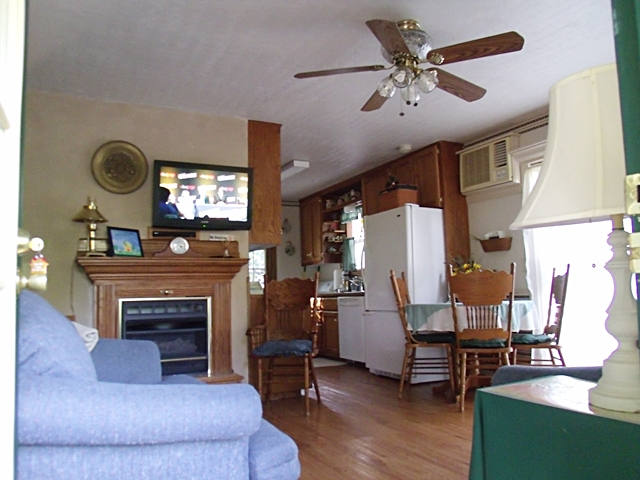 Inside Beaver Lake Vacation Rental Living Area