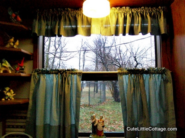 View from the Kitchen window in this Beaver Lake Cabin Rental