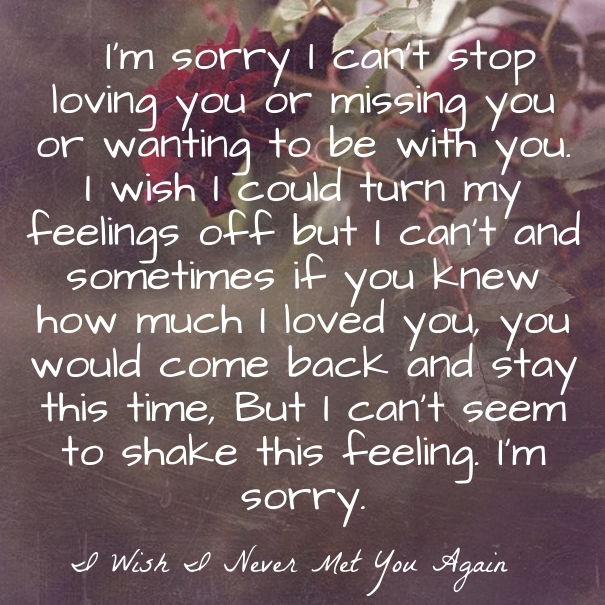 Sorry Love Quote: Saying I Am Sorry Love Quotes