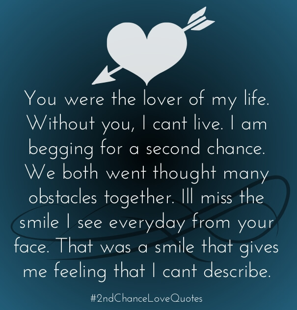 Quotes About 2nd Chances Love