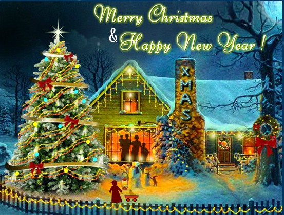 30 Merry Christmas And Happy New Year 2020 Greeting Card