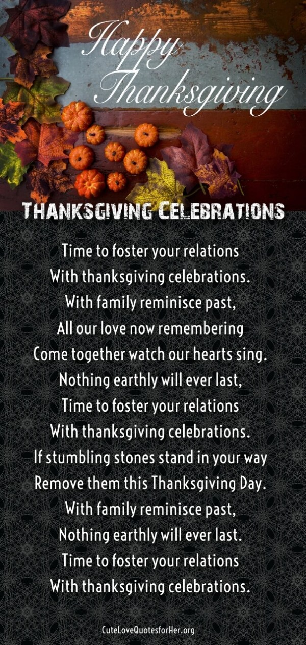 25 Thanksgiving Love Poems to Wish Her Him Thankful Poems