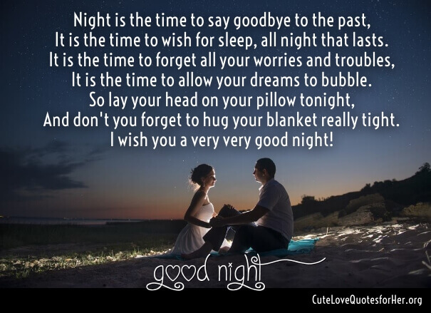Good Night Love Poems For Her And Him With Romantic Images