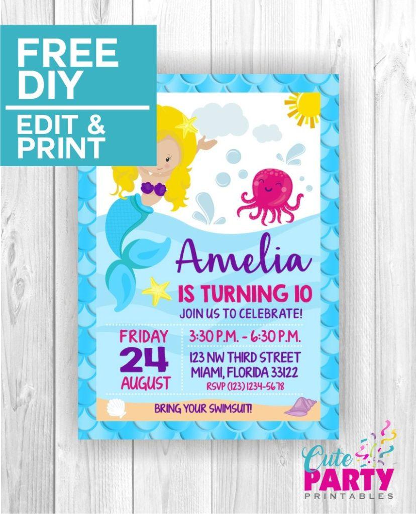 Mermaid Party Invitation CPP