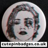Crystal Castles Madonna Badge