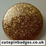 Gold Glitter Badge