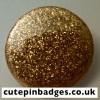 Gold Glitter Badge