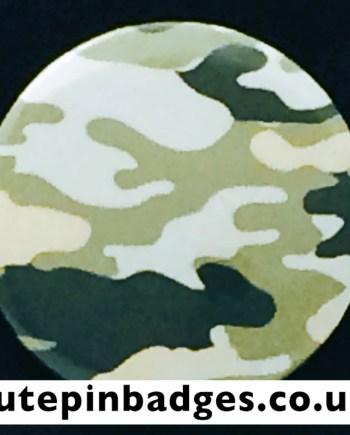 Tea Green Laurel Camouflage Badge